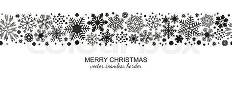 black  white seamless snowflake stock vector