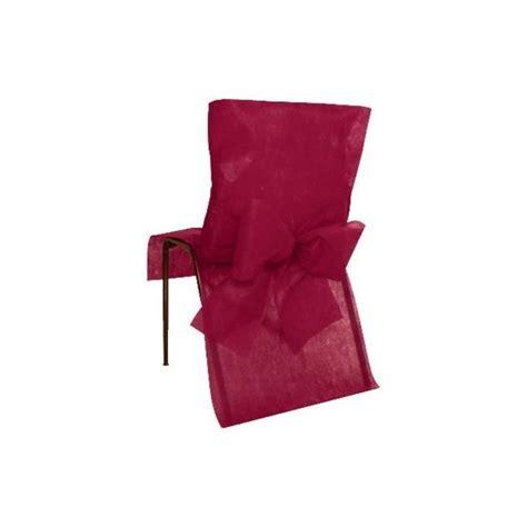housse de chaise intisse housse de chaise intiss 233 bordeaux avec noeuds intiss 233 tissu non tiss 233 d 233 coration mariage et f 234 tes