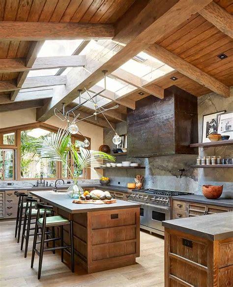 cozy kitchen designs  wood accent