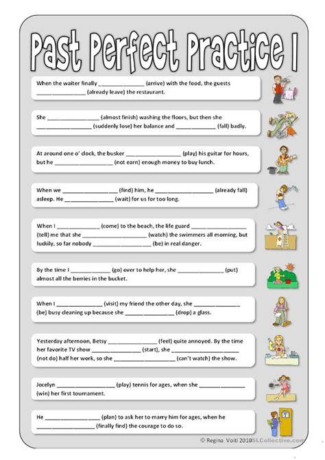 perfect practice  worksheet  esl printable