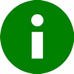 Green Info Icon – free icons