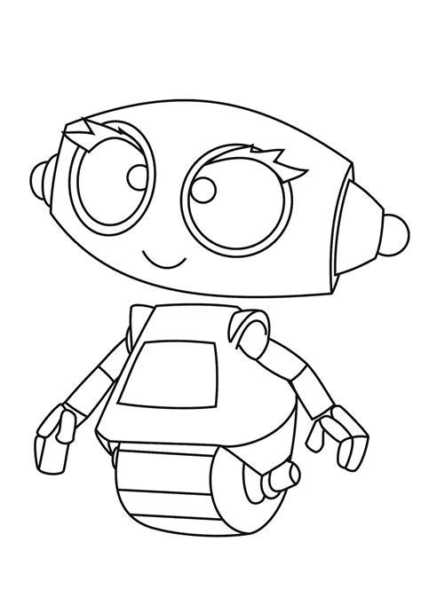 rob robot cartoon coloring pages  kids printable