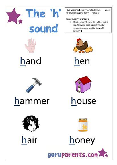 words that begin with the letter h letter h worksheets guruparents 25718 | preschool letter worksheet h sound