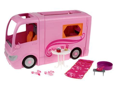 Barbie Glamour Camper Vehicle PlaySet w/ Accessories by