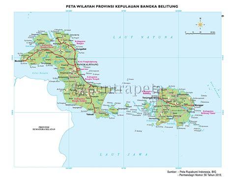peta atlas provinsi kepulauan bangka belitung sentra peta