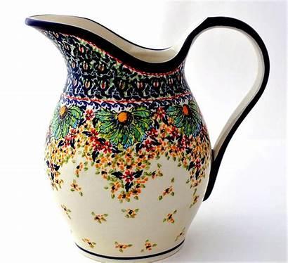 Pitcher Stoneware Unikat Pottery Polish Oz Water