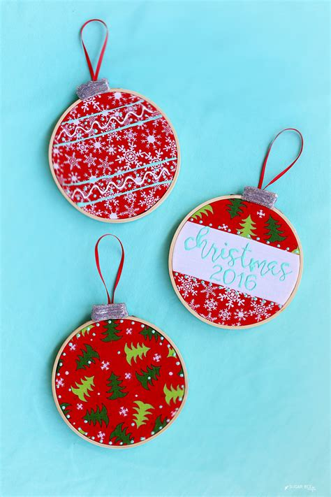 ornament projects embroidery hoop ornaments sugar bee crafts