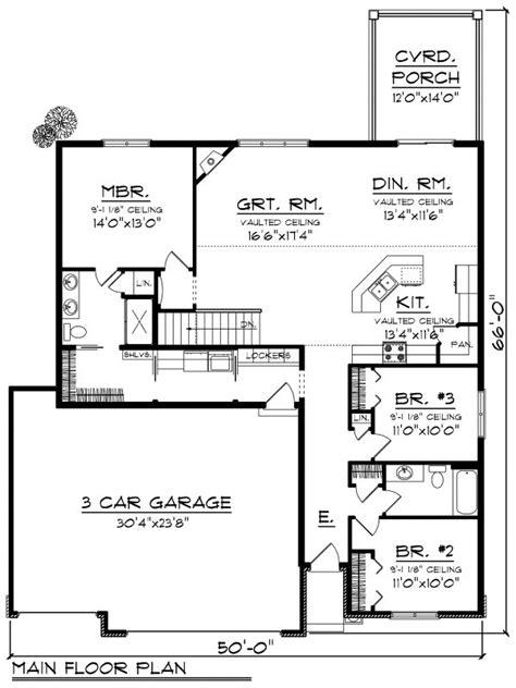 ranch style house plan  beds  baths  sqft plan   floorplanscom
