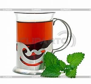 Tee Im Glas : tee im glas halter und melisse foto mit hoher aufl sung cliparto ~ Markanthonyermac.com Haus und Dekorationen