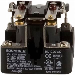 Square D 30 Amp Power Relay Coil-8501co7v20