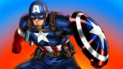 Captain America Animated Hd Wallpapers - captain america marvel comics wallpapers 1366x768