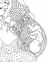 Pages Coloring Pregnant Mom Getcolorings sketch template