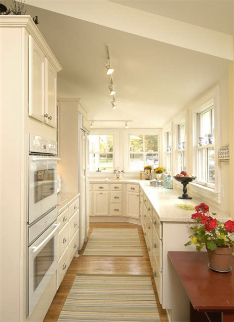 lighting for galley kitchen galley kitchen lighting looks 7033