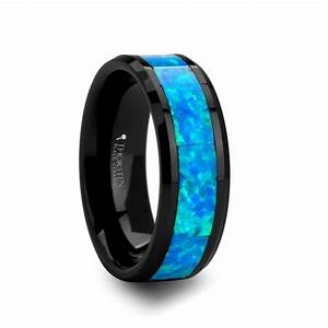 green opal wedding band for men and tungsten wedding band With mens opal wedding ring