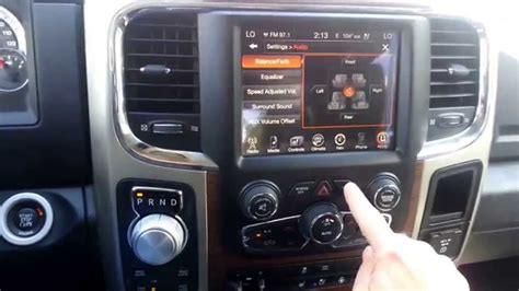 uconnect  button  chrysler dodge jeep ram youtube