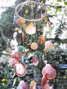 colorful sea shell wind chime  nokta  etsythis