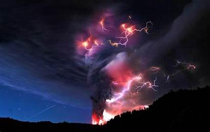 Lightning Strike Strikes Volcano
