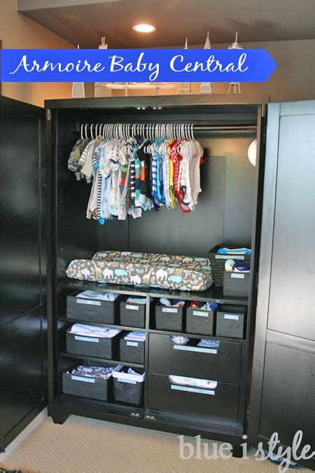 {organizing With Style} Armoire Baby Central  Blue I