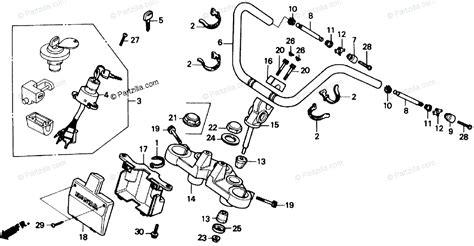 Honda Motorcycle Oem Parts Diagram For Handlebar