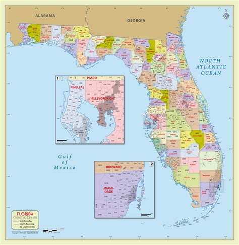 buy florida zip code  counties map