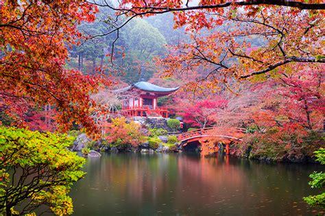 fondos de pantalla japon kioto parque pagodas otono