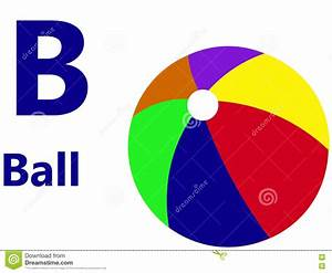 english alphabet letter b for ball stock illustration With letter ball