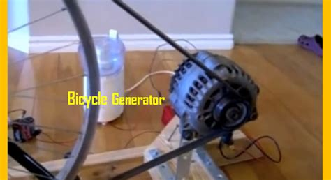 [video] Homemade Bicycle Generator