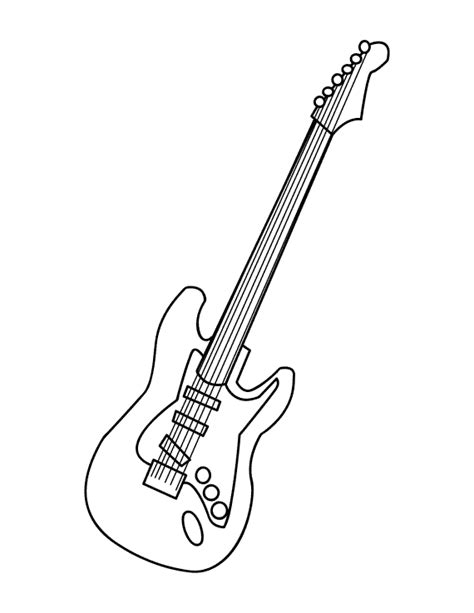 bass guitar coloring pages getcoloringpagescom