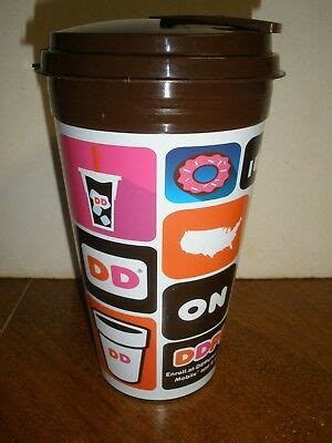 In need of a coffee and donut fix? Dunkin Donuts 2015 Hot Coffee Refill Travel Mug Capital Cups   eBay