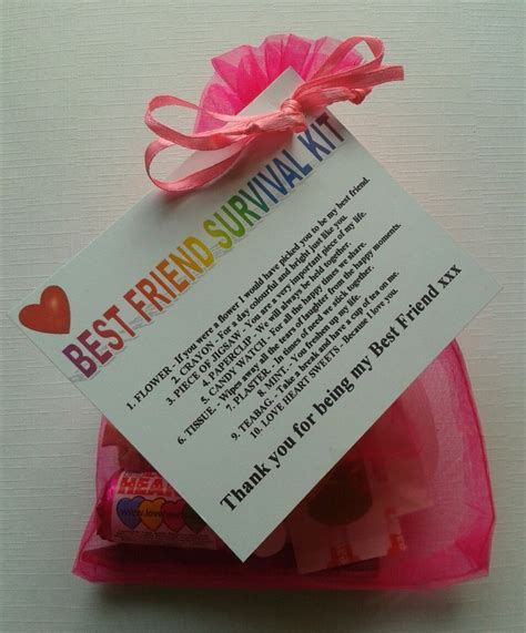 make for your best best friend survival kit birthday keepsake gift present To