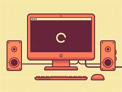 Computer Loading Gifs Animated Animation Safety Dribbble