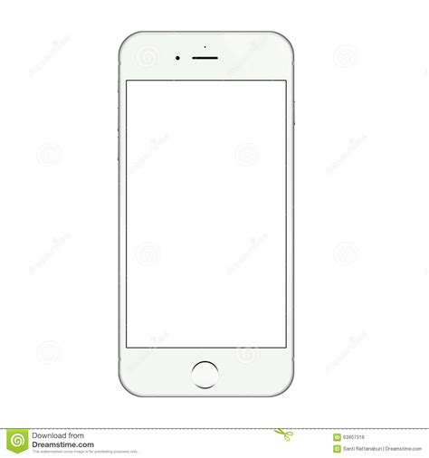 iphone blank screen realistic white iphone 6 blank screen vector design