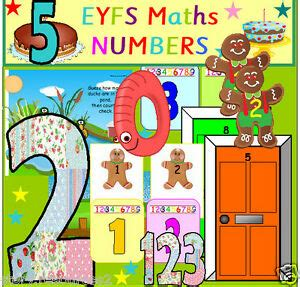 Maths Numbers Eyfs Teaching Resources & Planning New Term Numeracy Resource Cd Ebay
