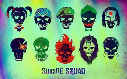 Suicide Squad Characters Minimalism Wallpapers Movies 4k