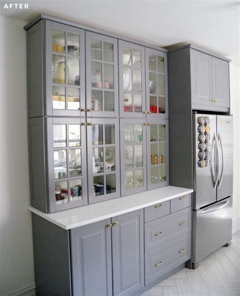 how to assemble ikea kitchen cabinets stacked two regular height ikea cabinets to make a 8499