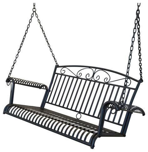 wrought iron porch swing wrought iron outdoor patio 4 porch swing black 1667