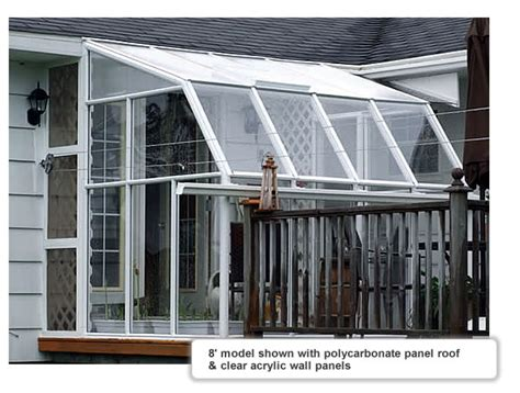 Eco Sunroom 8 Lean-to Greenhouse Kit