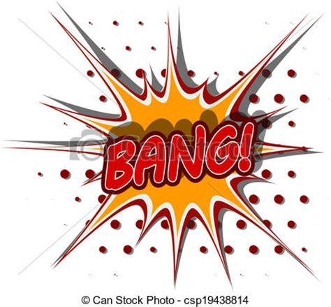Vector Clip Art Cartoon Illustration Bang