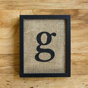 letter g burlap wall decor alphabet art monogram With letter g wall art