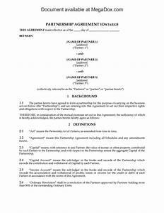 partnership agreement ontario template sampletemplatess With partnership agreement ontario template