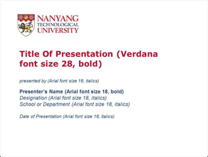 Conference Presentation Template Ppt by Ntu Ppt Template Jipsportsbj Info