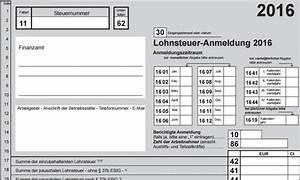 Lohnsteuer 2016 Berechnen : muster und werte lohnsteuer anmeldung 2016 lex blog ~ Themetempest.com Abrechnung