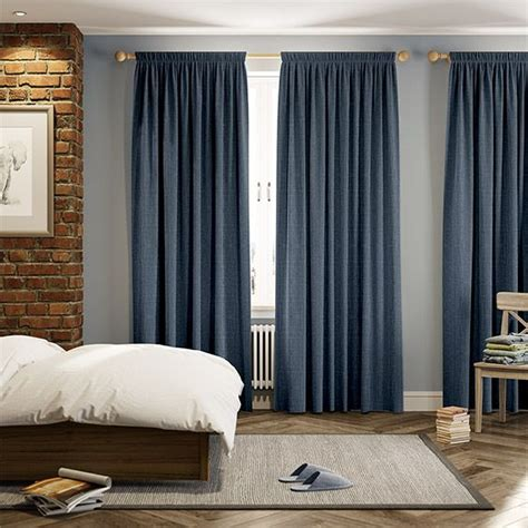 Purchased because we have wider windows than some panels cover. Cavendish Denim Blue Curtains | Blue curtains living room, Blue curtains bedroom, Orange ...