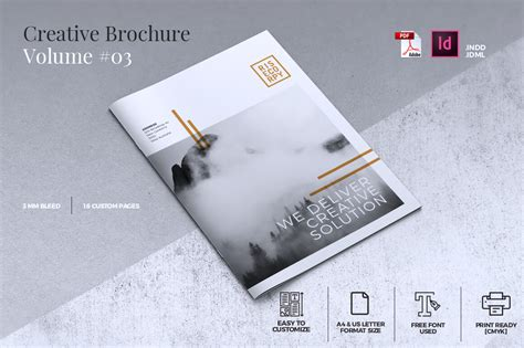 Creative Brochure Templates Free by Creative Brochure Template Volume 03