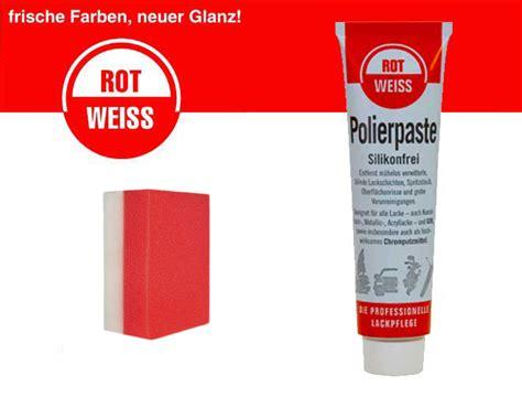 Rot Weiss Polierpaste Kunstharz U V M Rotweiss Politur Profi Schwamm Ebay