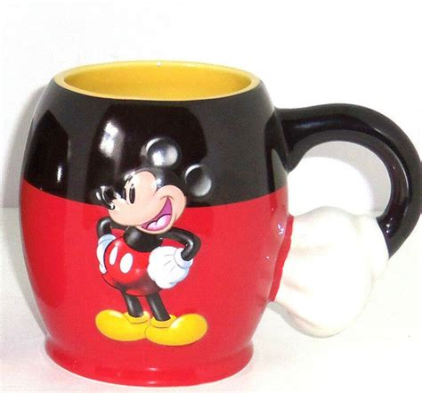 How do you like your coffee? Walt Disney World Mickey Mouse Coffee Mug Cup Hand Handle Theme Parks New   eBay