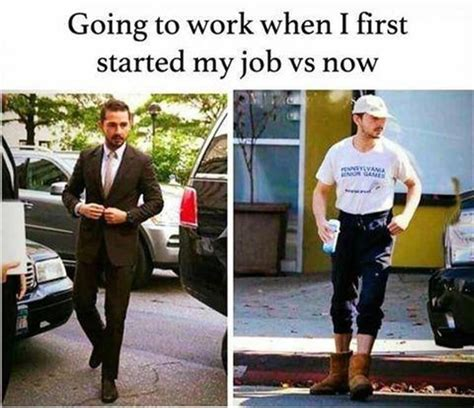 Going To Work When I First Started My Job Vs Now Pictures, Photos, And Images For Facebook
