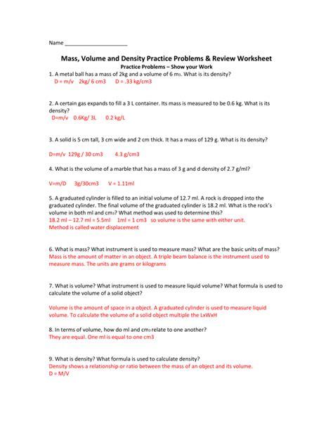 density review worksheet kidz activities