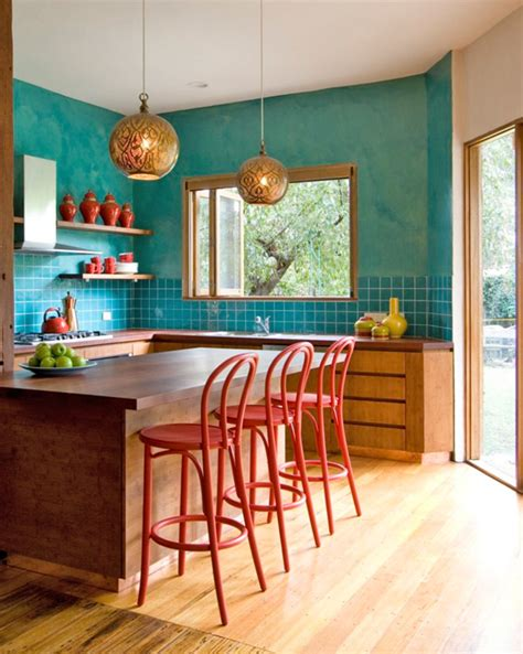 31 Bright And Colorful Kitchen Design Inspirations