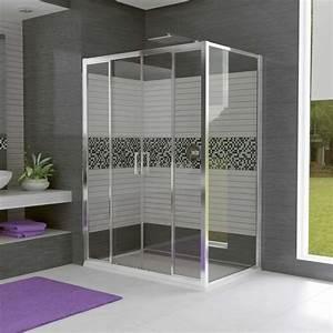 Porte de douche coulissante battante et fixe en 95 idees for Porte de douche coulissante avec tapis de sol salle de bain antidérapant